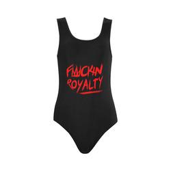 Fuckin Royalty red/black Vest One Piece Swimsuit (Model S04)