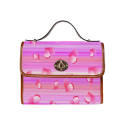 Falling Hearts Waterproof Canvas Bag/All Over Print (Model 1641)