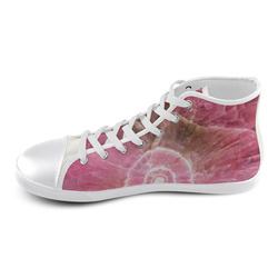 Pink and white stone texture High Top Canvas Kid's Shoes (Model 002)