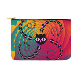 Rainbow Spiral Cats Carry-All Pouch 12.5''x8.5''