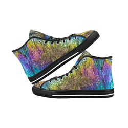 Colorful stone texture Vancouver H Men's Canvas Shoes (1013-1)