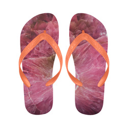 Pink and white stone texture Flip Flops for Men/Women (Model 040)