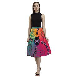 Rainbow Spiral Cats Aoede Crepe Skirt (Model D16)