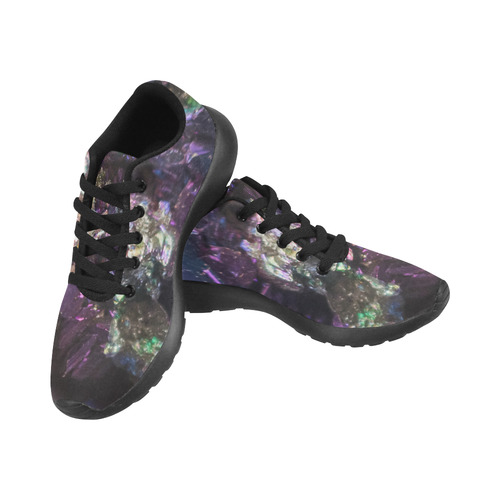 Purple green and blue crystal stone texture Men's Running Shoes (Model 020)