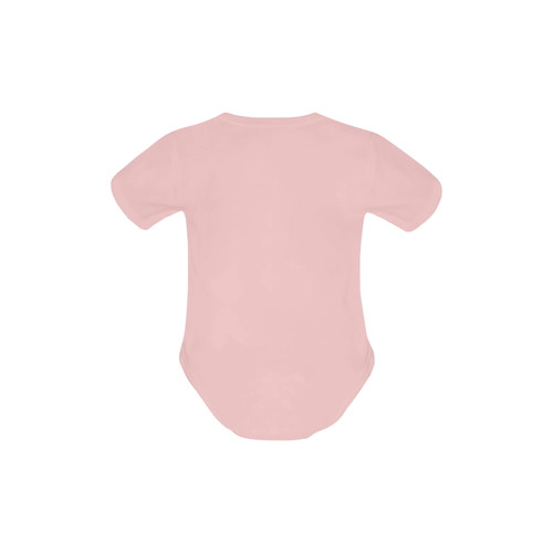Teal Owl baby pink Baby Powder Organic Short Sleeve One Piece (Model T28)
