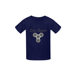 Spin Squad gray on navy Kid's  Classic T-shirt (Model T22)