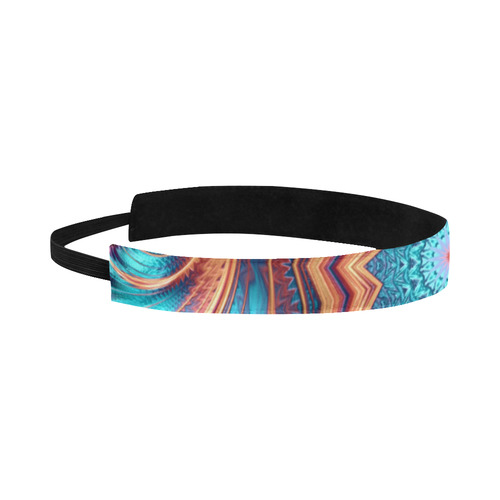 Blue Feather Mandala Sports Headband
