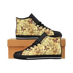 Beautiful Butterflies Aquila High Top Microfiber Leather Women's Shoes (Model 027)