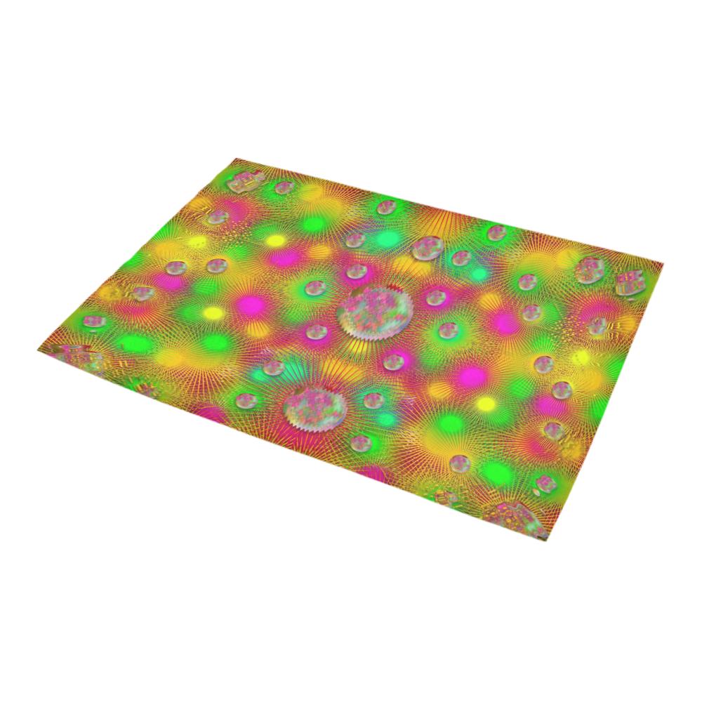 "Summer Love in peace  colors and flowers pop art Azalea Doormat 24"" x 16"" (Sponge Material)"