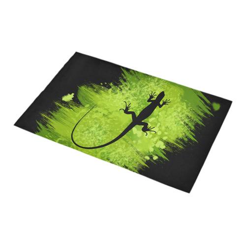 Green Lizard Shape Painting Bath Rug 16''x 28''