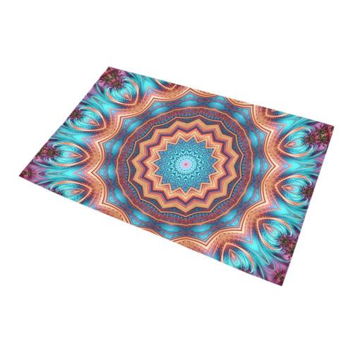 Blue Feather Mandala Bath Rug 20''x 32''