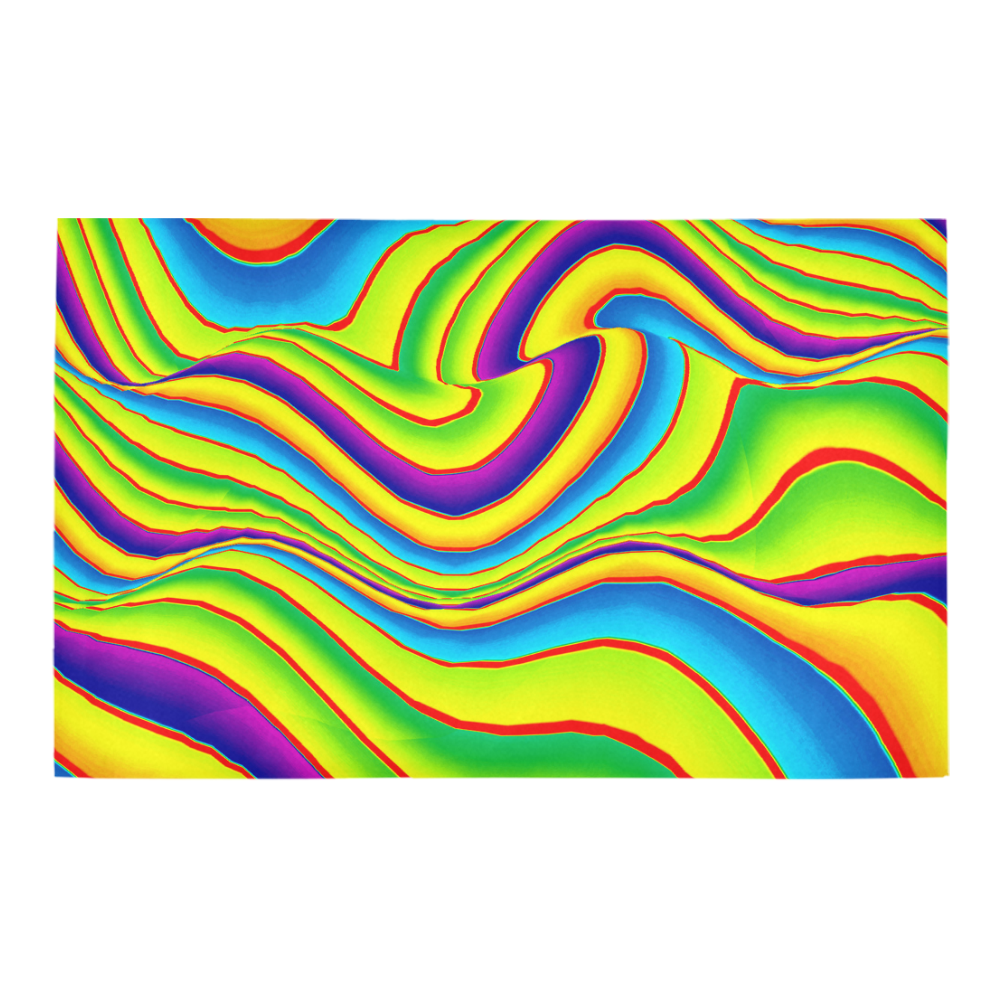 Summer Wave Colors Bath Rug 20''x 32''