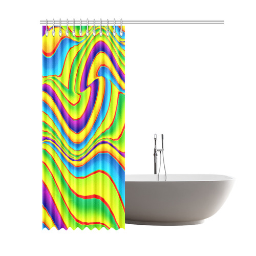 """Summer Wave Colors Shower Curtain 69""""x84"""""""