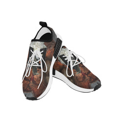 The crow with skulls Men's Draco Running Shoes (Model 025)