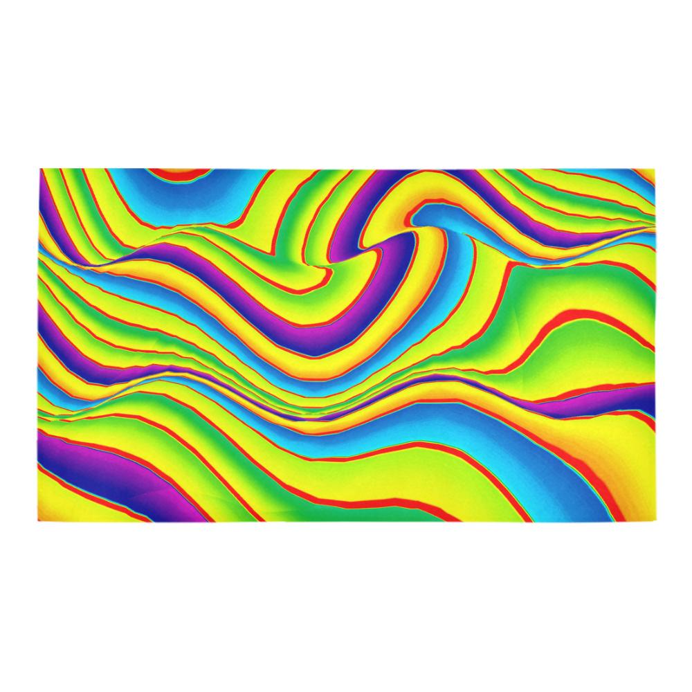 Summer Wave Colors Bath Rug 16''x 28''