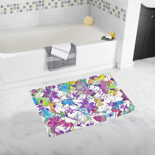 Lilac Lillis Abtract Splash Bath Rug 20''x 32''