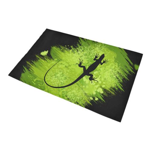Green Lizard Shape Painting Bath Rug 20''x 32''