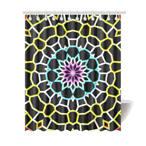 """Live Line Mandala Shower Curtain 69""""x84"""""""