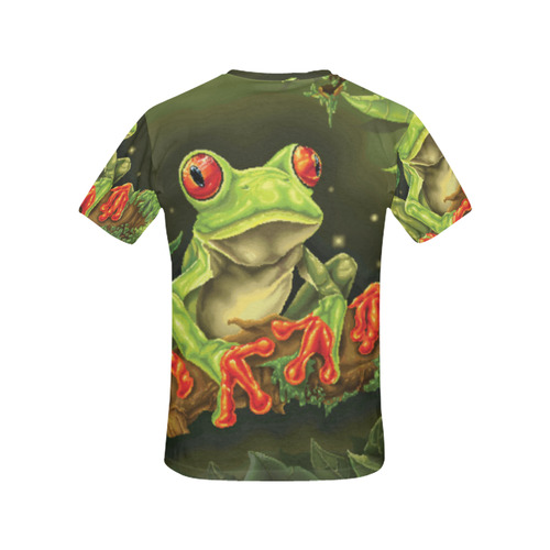 Tree Frog All Over Print T-Shirt for Women (USA Size) (Model T40)