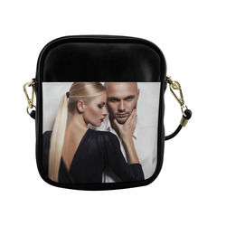 Beautiful Woman and Man Beauty Fashion Photo Sling Bag (Model 1627)
