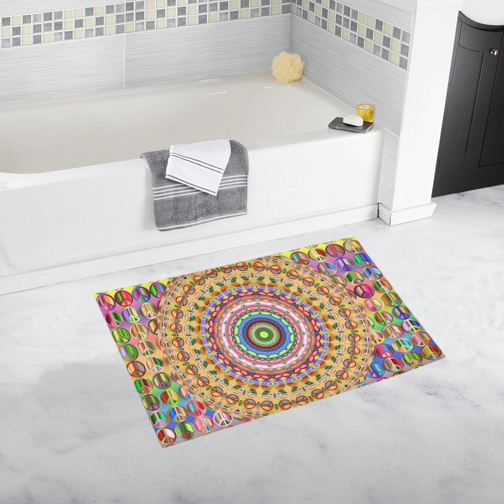 Peace Mandala Bath Rug 20''x 32''