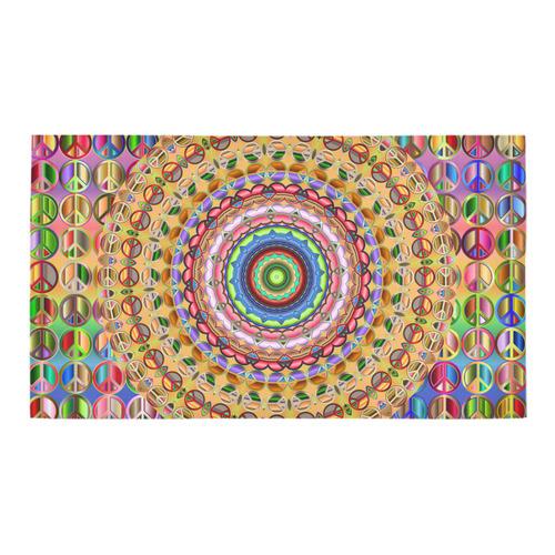 Peace Mandala Bath Rug 16''x 28''
