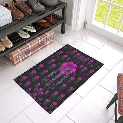 "Jungle Flowers Azalea Doormat 24"" x 16"" (Sponge Material)"