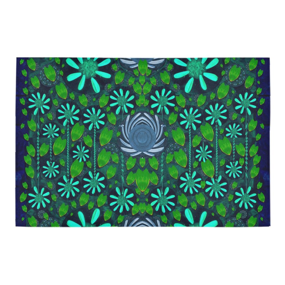 """Strawberry fantasy flowers in a fantasy landscape Azalea Doormat 24"""" x 16"""" (Sponge Material)"""