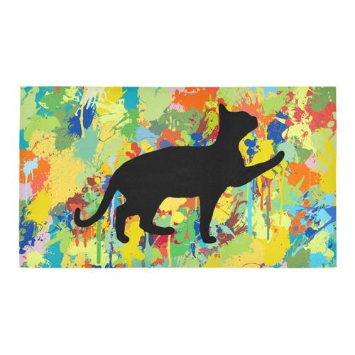 Lovely Cat Colorful Splash Complet Bath Rug 16''x 28''