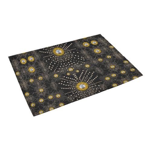 "Lace of pearls in the earth galaxy Azalea Doormat 24"" x 16"" (Sponge Material)"