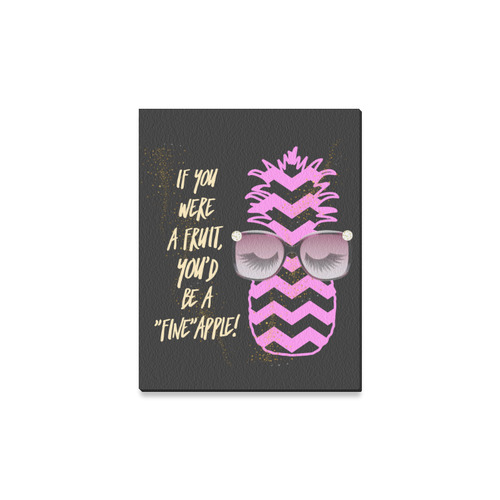 """Fineapple Gold Pink Canvas Print 11""""x14"""""""
