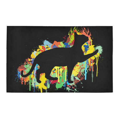 Lovely Cat Colorful Painting Splash Bath Rug 20''x 32''