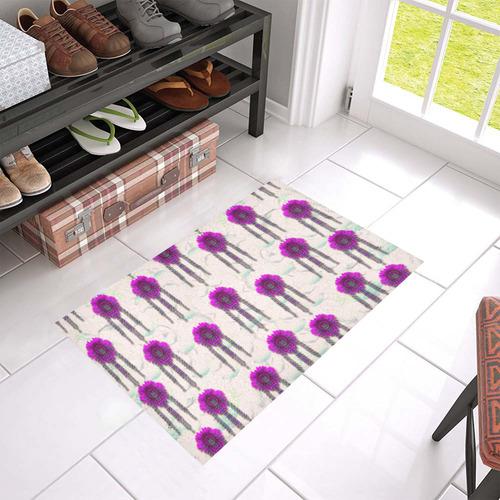 """Ice Flower Pop Art Azalea Doormat 24"""" x 16"""" (Sponge Material)"""