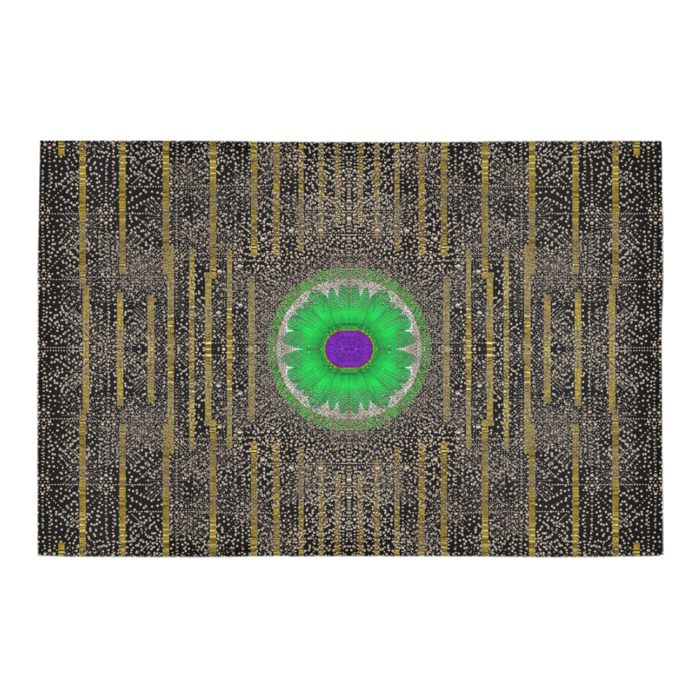"""in the stars and pearls is a flower Azalea Doormat 24"""" x 16"""" (Sponge Material)"""