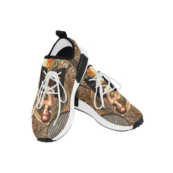 Steampunk lady with gears and clocks Men's Draco Running Shoes (Model 025)