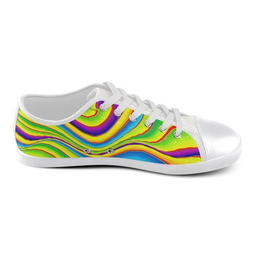 Summer Wave Colors Women's Canvas Shoes (Model 016)
