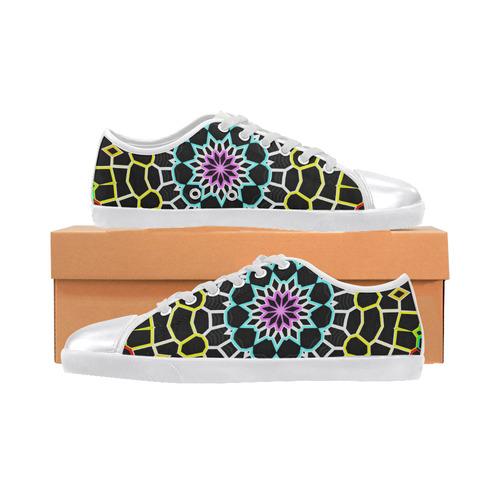 Live Line Mandala Women's Canvas Shoes (Model 016)