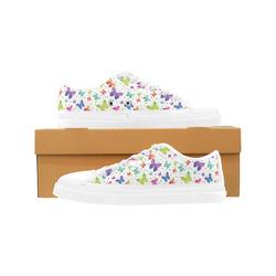 Colorful Butterflies Women's Canvas Zipper Shoes (Model 001)