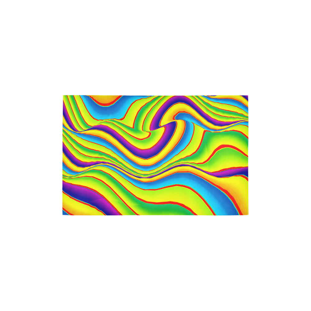 """Summer Wave Colors Area Rug 2'7""""x 1'8''"""