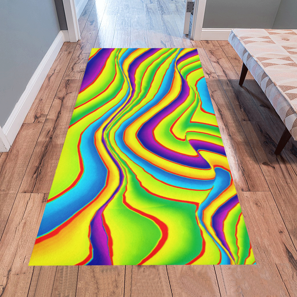 Summer Wave Colors Area Rug 7'x3'3''