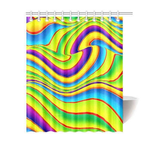 "Summer Wave Colors Shower Curtain 60""x72"""