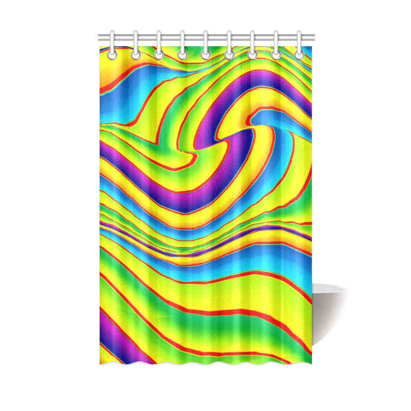 "Summer Wave Colors Shower Curtain 48""x72"""