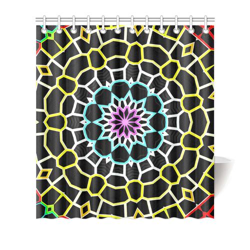 """Live Line Mandala Shower Curtain 66""""x72"""""""