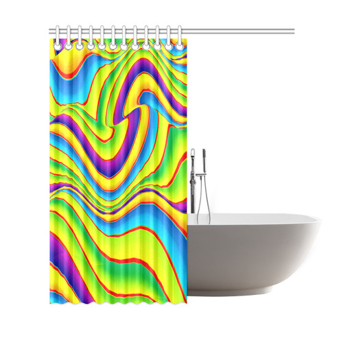 """Summer Wave Colors Shower Curtain 69""""x72"""""""
