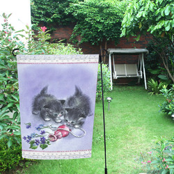 Vintage Kittens Antique Pearls Garden Flag 12''x18''(Without Flagpole)