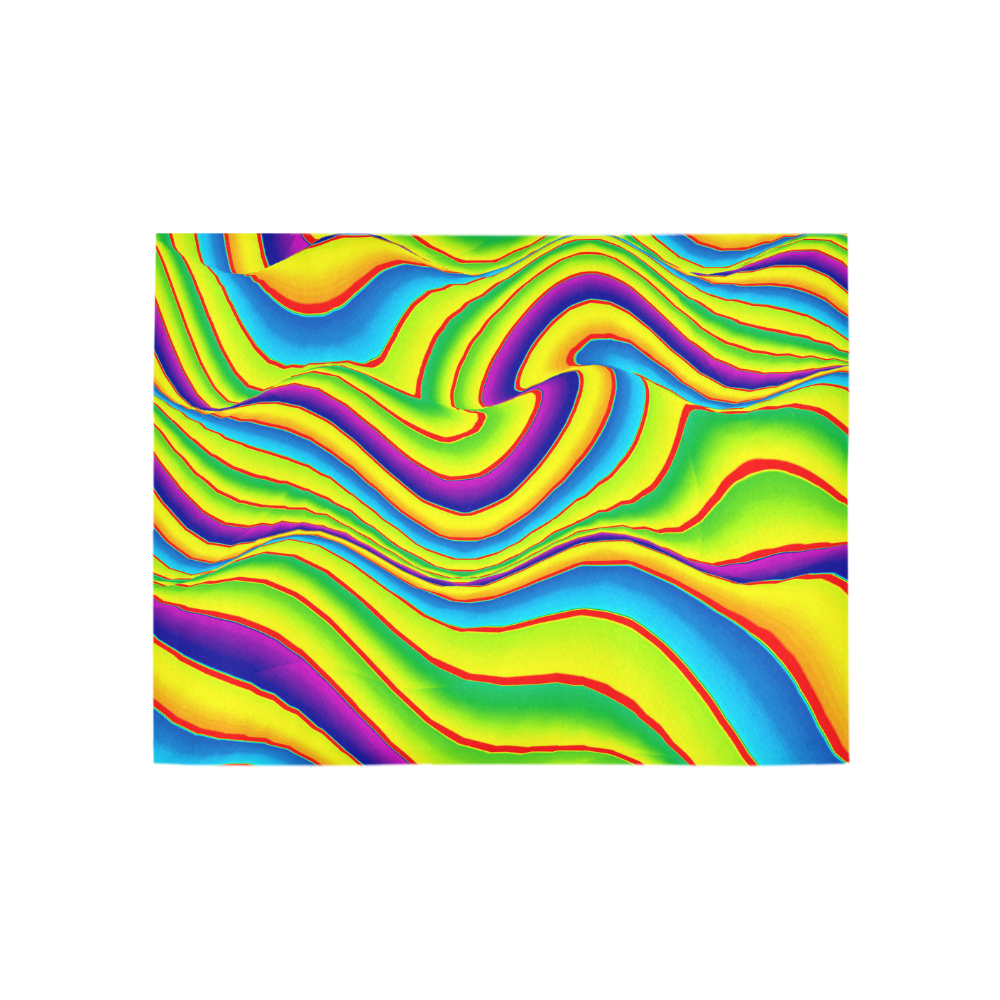 Summer Wave Colors Area Rug 5'3''x4'