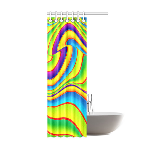"Summer Wave Colors Shower Curtain 36""x72"""