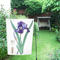 Botanical Iris Garden Flag 12''x18''(Without Flagpole)