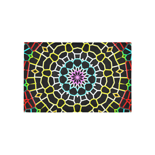 Live Line Mandala Area Rug 5'x3'3''