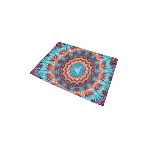 """Blue Feather Mandala Area Rug 2'7""""x 1'8''"""